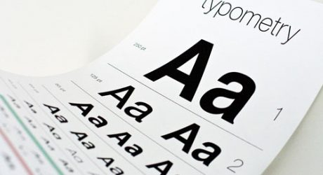 Typometry Eye Exam Chart Poster Tests Your Font Knowledge