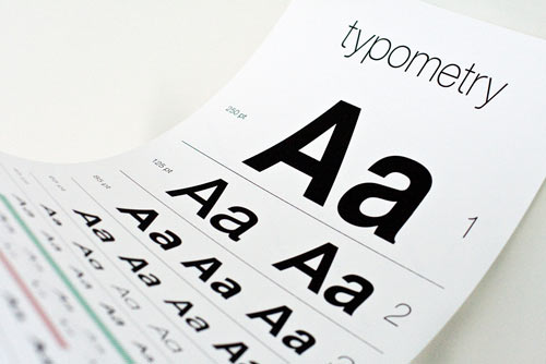 Typometry Eye Exam Chart Poster Tests Your Font Knowledge in art  Category