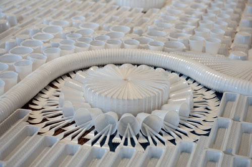 Giant Carpet Made from Disposable Plastic Tableware by We Make Carpets in main art  Category