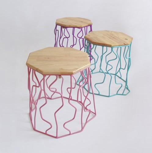 Wired Stump Outdoor Furniture by Peter Jakubik