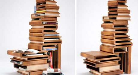 Wooden Book Box Shelving by Fabio Vinella