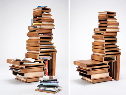 Wooden Book Box Shelving by Fabio Vinella