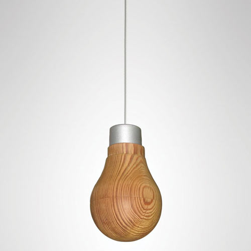Wooden Light Bulb That Really Glows by Ryosuke Fukusada
