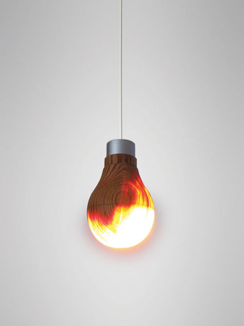 Wooden Light Bulb That Really Glows by Ryosuke Fukusada in home furnishings  Category