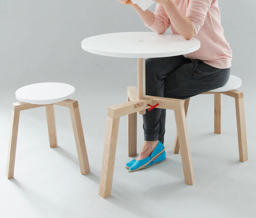 Adjustable Multifunctional Furniture by Agnieszka Mazur