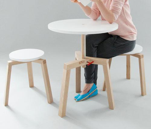 Adjustable Multifunctional Furniture by Agnieszka Mazur