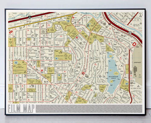 Los Angeles Film Map by Dorothy in main art  Category