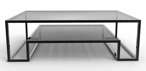 You Can Also Get The MK2 Garden Table With Glass Tops Instead Of The Steel  Mesh.