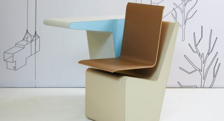 PROOFF #006 SideSeat Desk, Chair and Storage in One
