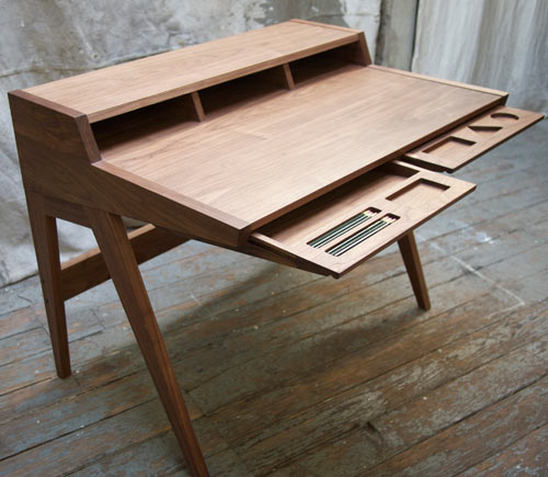 Mid Century Nelson Inspired Laura Desk by Phloem Studio in main home furnishings  Category
