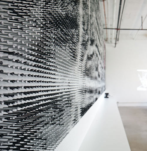 Aerial Photograph Wall Mural Made Of 44,000 Golf Tees