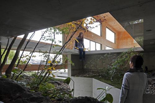 Partially Underground Nest House by UID Architects - Design Milk