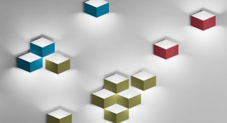 FOLD 3D Cube Sconce by Arik Levy for Vibia