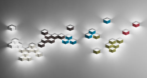 FOLD 3D Cube Sconce by Arik Levy for Vibia in main home furnishings  Category