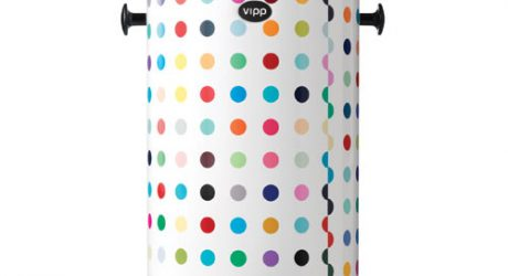 The Dotted Vipp Bin by Damien Hirst