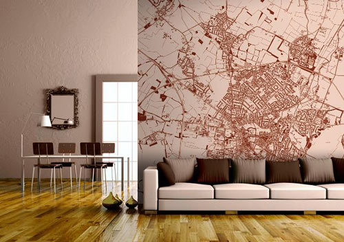 Custom map wall murals by wallpapered design milk the radius you want covered then you customize the size and colors to your liking and youll have your very own one of a kind mural sciox Images