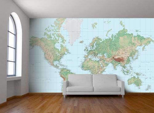 Custom Map Wall Murals Wallpapered Design Milk Wall Art