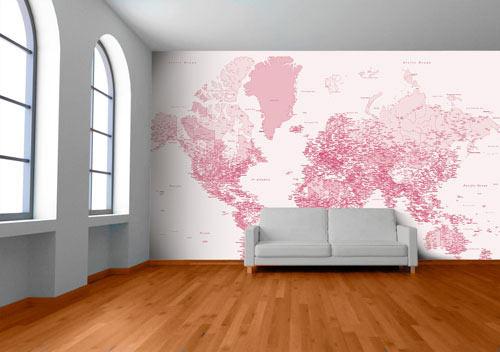 Custom Map Wall Murals by Wallpapered Design Milk