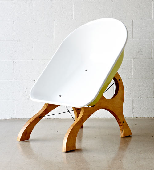 Wheelbarrow Chair by Karl Sanford