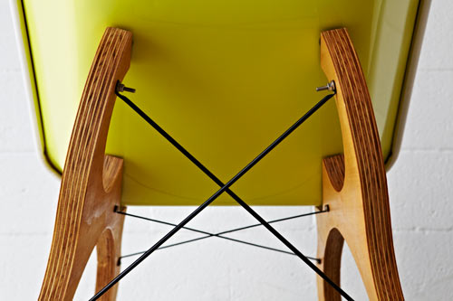 The Wood Legs Are Held Together With Crossed Steel Bracing, Which Really  Modernizes The Overall Look Of The Chair. I Also Like That The Nuts And  Bolts Are ...