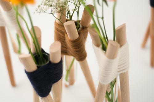 Forget Me Not Vases by Aurélie Richard