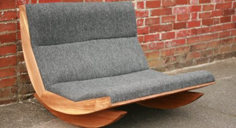 Harris Tweed Rocking Chair by Baines&Fricker