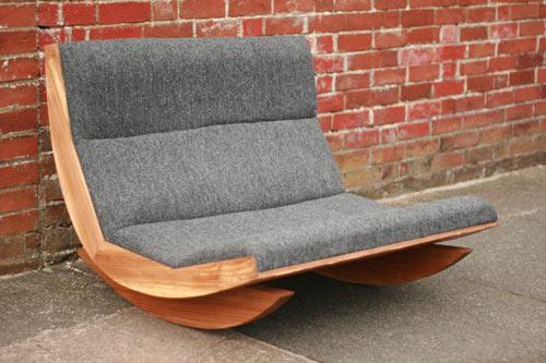 Harris Tweed Rocking Chair by Baines&Fricker