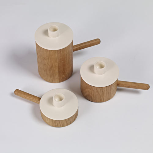 Another Ceramic Candlestick by Marie Dessuant for Another Country in home furnishings  Category