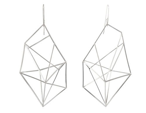 Modern Geometric Steel Jewelry by Sarah Loertscher in style fashion  Category