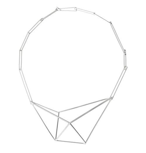 Modern Geometric Steel Jewelry by Sarah Loertscher Design Milk