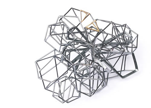 Modern Geometric Steel Jewelry by Sarah Loertscher