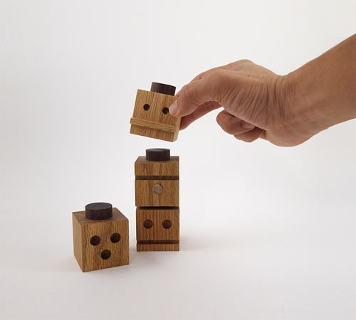 TOTEMS Wooden Building Blocks by Dino Sanchez