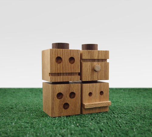 TOTEMS Wooden Building Blocks by Dino Sanchez in style fashion main home furnishings  Category
