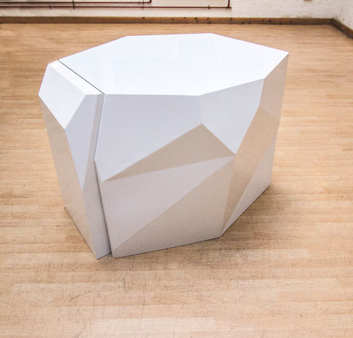 Sculptural Chairs Disappear Into Geometric Table in main home furnishings  Category