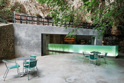 Bar in the Caves of Mallorca by A2 Arquitectos