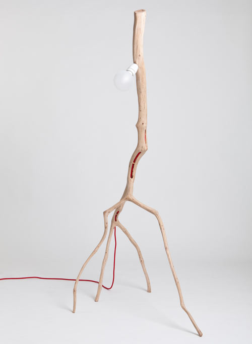 Bichos Oak Branch Lamps by Martinho Pita in home furnishings Category