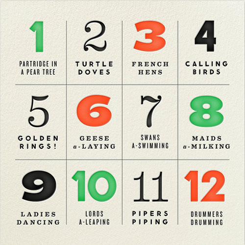 12 Modern Holiday Cards - Design Milk