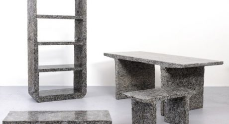 Furniture Made from Shredded Elle Decor Magazines by Jens Praet