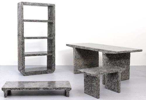 Furniture Made from Shredded Elle Decor Magazines by Jens Praet