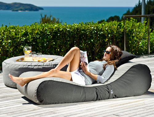 Outdoor Bean Bag Lounger by Lujo Living