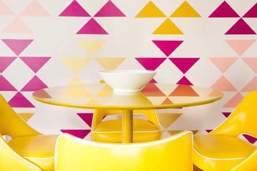 Removable Triangle Wall Decals by MUR in interior design home furnishings art Category