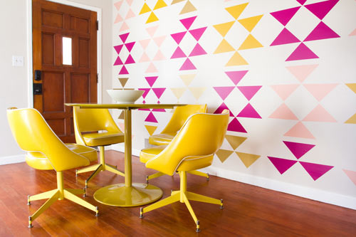 Removable Triangle Wall Decals by MUR - Design Milk