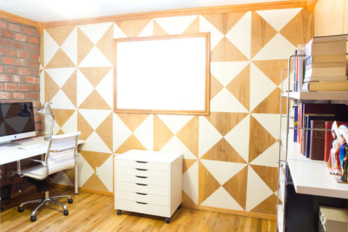 removable triangle wall decals by mur design milk - Walls By Design