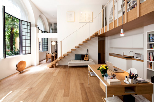 T House in Milan by Takane Ezoe and Modourbano in main interior design  Category