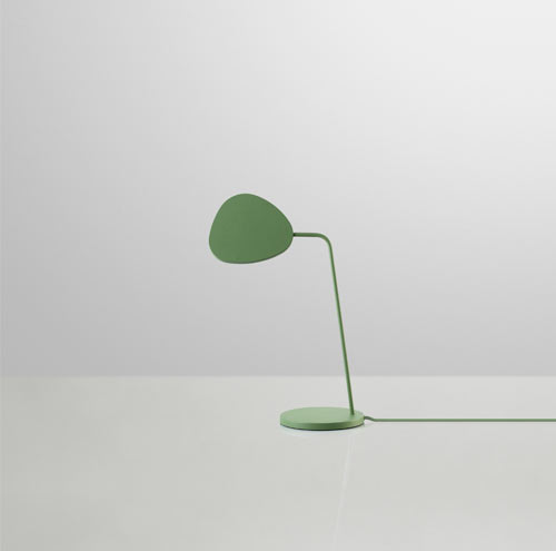 The lamp is so simple in design with its rotating leaf-like silhouette that  can be turned to shine light on any area where you need it. - Leaf Lamp By Broberg & Ridderstråle For Muuto - Design Milk