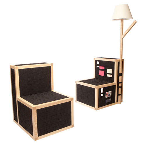 Furniture Covered in Elastic Bands Holds All Your Stuff