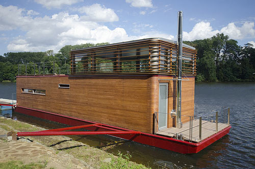 Thesayboat Modern Houseboat Design Milk