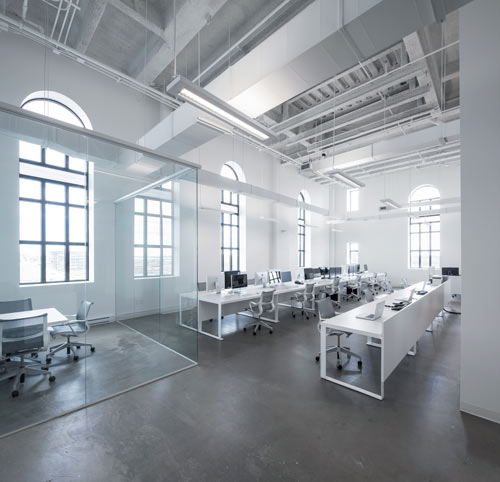 Blue White Office Space Orange There Design Milk Blue Communications Office Space By Jean Guy Chabauty And Anne