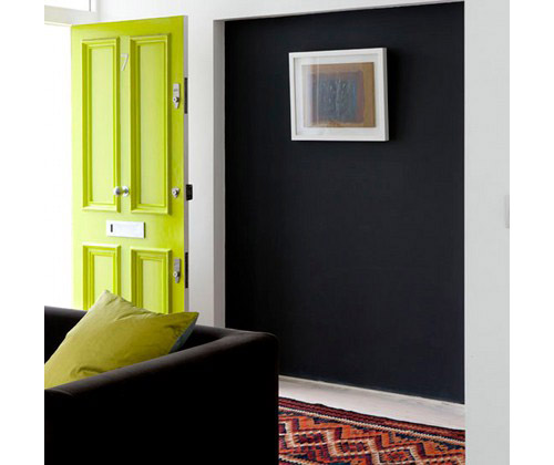Interior Ideas: 12 Colorful Doors on the Inside in main interior design home furnishings architecture  Category