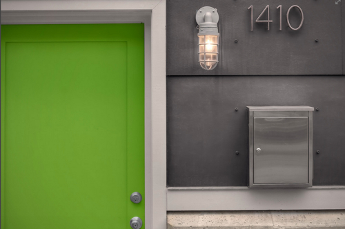 Exterior Ideas: 12 Brightly Colored Front Doors in main interior design architecture  Category
